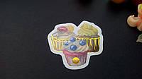 Наклейка десерт с фольгированием