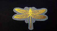 Наклейка с фольгированием на кальке стрекоза