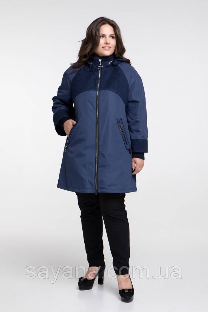 Женское демисезонное пальто в расцветках, р-р 48-72. НО-48-0818