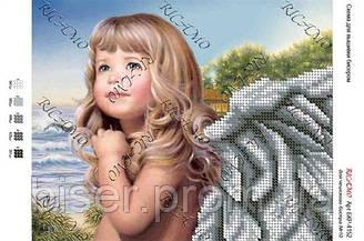 """Схема для вышивки бисером """"Дівчинка-ангел"""""""