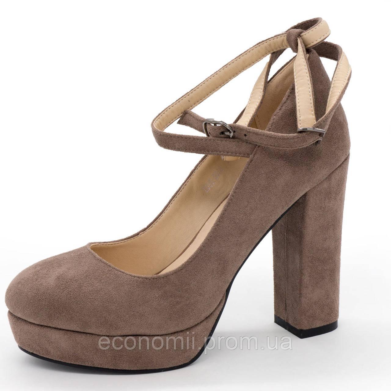 Женские туфли LIICI H095-B668 Apricot на платформе  р.(37, 38, 39)