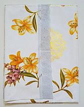 """Клеенчатая скатерть для стола на тканевой основе """"Золотая лилия"""" (624001), фото 2"""