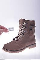 Женские Ботинки кожаные на меху MIDA 24382нуб.кум
