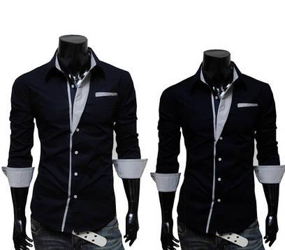 Рубашка Slim Fit cо вставками СС5279