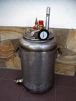 Комбинированный газово-электрический автоклав из нержавейки, 14 л.банок без блока управления