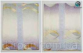 """Клеенчатая скатерть для стола на тканевой основе """"Фиолетово-серая"""" (624002)"""