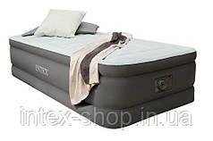 Односпальная надувная кровать со встроенным насосом Intex 64472