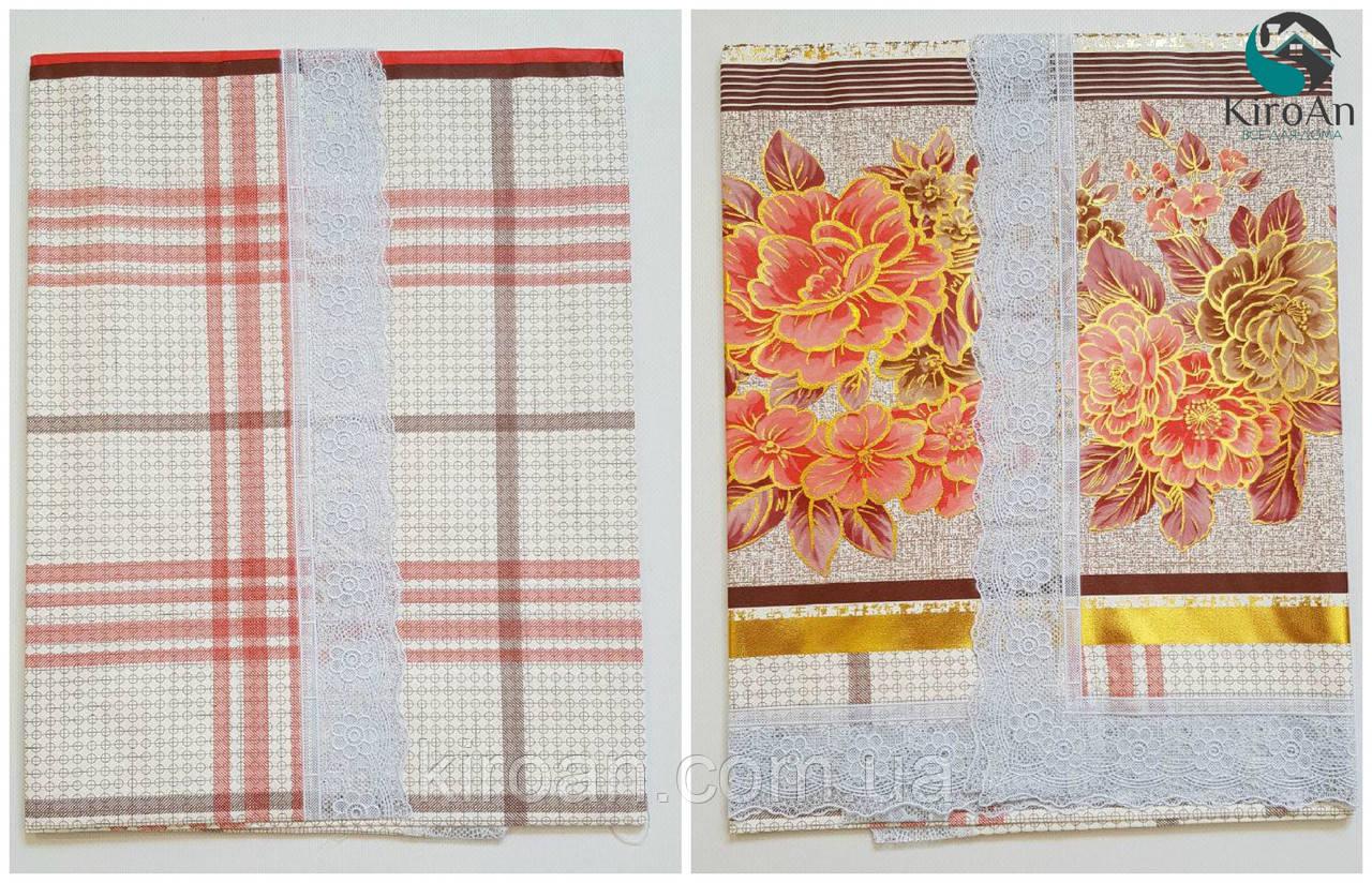 """Клеенчатая скатерть для стола на тканевой основе """"Цветы"""" (624011)"""