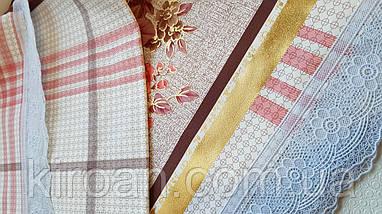 """Клеенчатая скатерть для стола на тканевой основе """"Цветы"""" (624011), фото 2"""