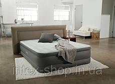 Надувная кровать со встроенным насосом 220В 152х203х46см Intex 64474, фото 3