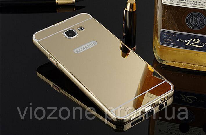Зеркальный Чехол/Бампер для Samsung Galaxy A5 2017 / A520, Золото (Металлический)