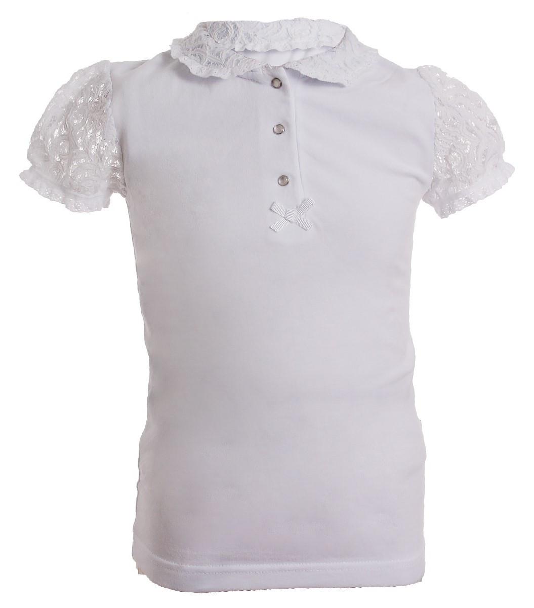 e1d5a3fcdf2 Школьная трикотажная блузка тм Smil с коротким рукавом р-р 116 ...