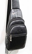 Мужская сумка - бананка на пояс  размер 17 х 31 см цвет черный