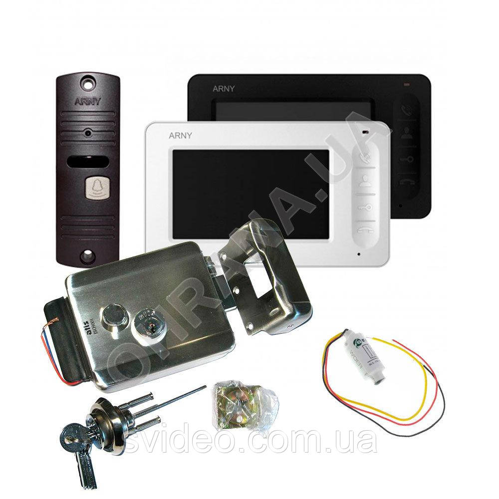 Комплект видеодомофона ARNY AVD-4005+вызывная панель AVP-05+замок Atis Lock SS