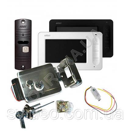 Комплект видеодомофона ARNY AVD-4005+вызывная панель AVP-05+замок Atis Lock SS, фото 2