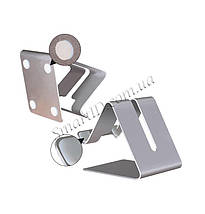 Металлическая подставка-держатель Kola для телефона или планшета (Серебристая), фото 3