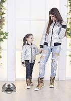 Женская модная куртка- бомбер с карманами
