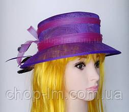 """Шляпа женская """"Совершенство"""" фиолетовая"""