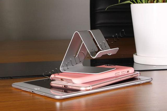 Металлическая подставка-держатель Kola для телефона или планшета (Серебристая)
