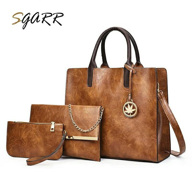 Купить Три сумки женская коричневого цвета кожзам, Weidipolo