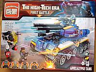 Конструктор Brick Enlighten 2713 Эра Апокалипсиса - танк, фигурки 398 деталей, фото 1