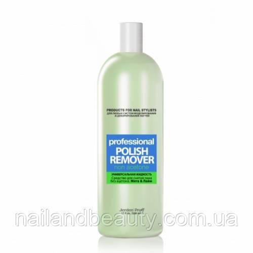 Жидкость для снятия лака Jerden Proff без ацетона Лайм&Мята 500 мл