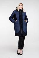 Куртка зимняя комбинированная с капюшоном, с 50 по 62 размер , фото 1