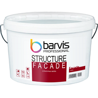 Акрилова структурна фарба Barvis Professional Facade Structure фасадна Біла 10 літрів