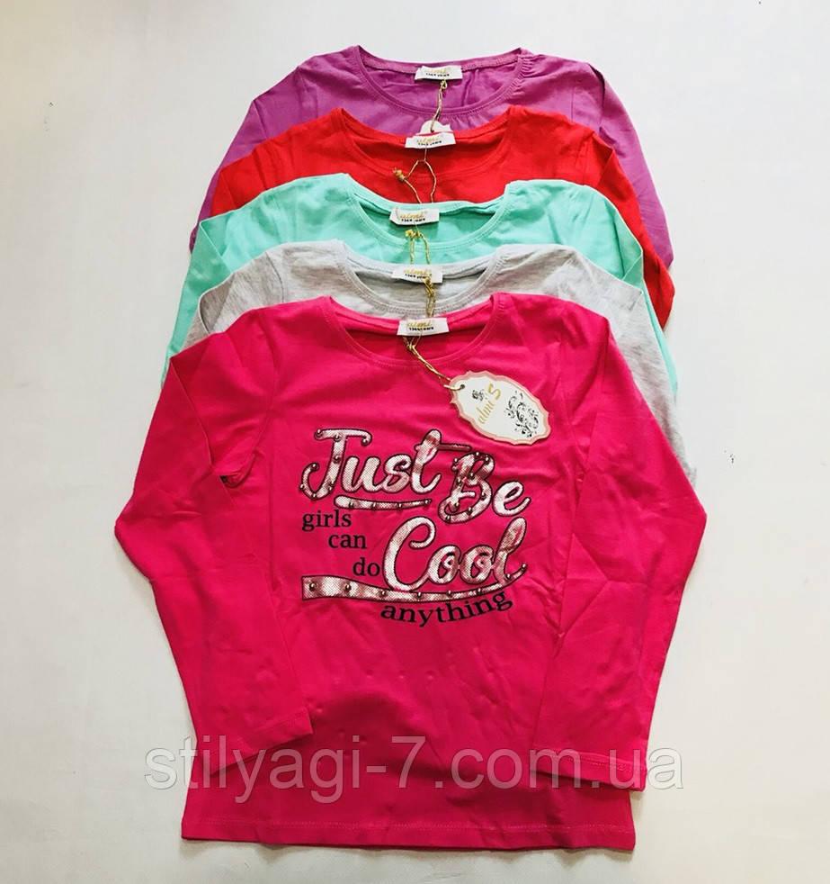 Батник для девочки на 9-12 лет серого, мятного, красного, цвета с надписью оптом