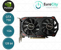 Видеокарта Asus PCI-Ex GeForce GTX 750 1024MB DDR5 (128bit) (1020/5012) (VGA, DVI, HDMI)  OEM (New)