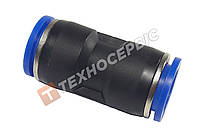 Соединитель тормозной трубки прямой пластиковый (аварийный фитинг, спасатель,PUC4) Ø4мм- Ø4мм