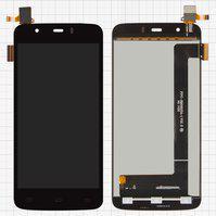 Дисплей для мобильного телефона Fly IQ4414 Quad, черный, с сенсорным э