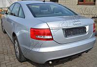 Юбка диффузор обвес заднего бампера Audi A6 C6 стиль RS6