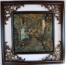 Картина чеканка керамическая №5