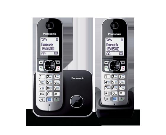 Panasonic KX-TG6812UAB радиотелефон, фото 2