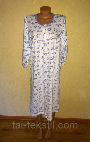 Байковая ночная рубашка больших размеров Турция (54-58р), фото 2