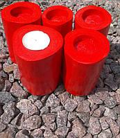 Подсвечник красный