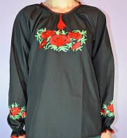 """Женская рубашка вышиванка  """" Маки  """"  ( В.О.В.), фото 1"""