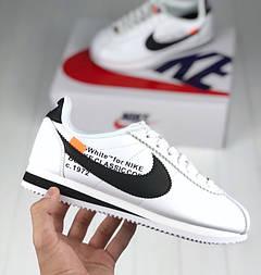 Женские кроссовки Nike Cortez x Off White. Живое фото. Топ реплика ААА+