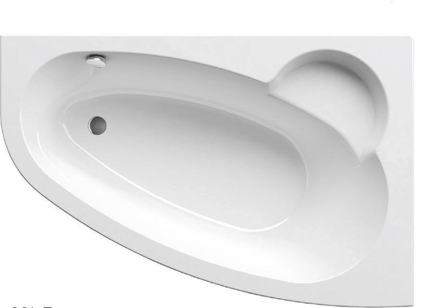 Ванна Ravak Asymmetric 160x105 см, права з панеллю і ніжками