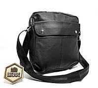 793eda977942 Кожаная Черная мужская сумка мессенджер планшетка барсетка классического  стиля