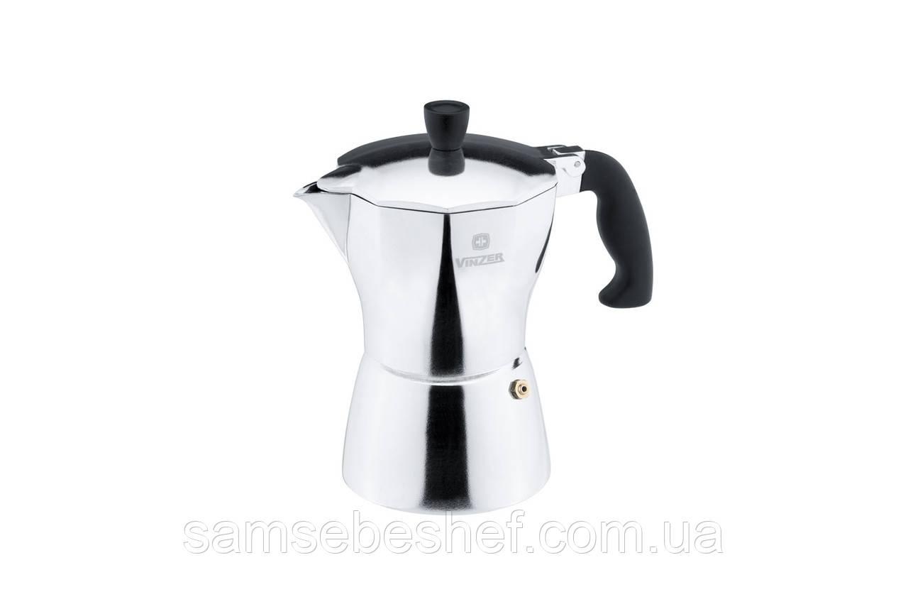 Гейзерная кофеварка Vinzer Moka Aroma 3 чашки, 89388