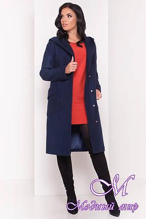 Женское удлиненное демисезонное пальто (р. S, M, L) арт. Анджи 5470 - 36736, фото 2
