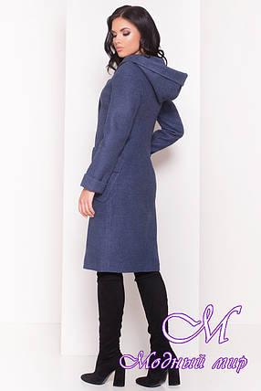 Женское демисезонное пальто с капюшоном (р. S, M, L) арт. Анджи 5470 - 36729, фото 2