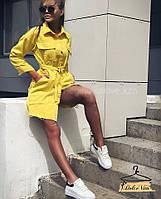 Плотное платье-рубашка Мод .0047, фото 1