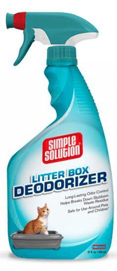 Simple Solution Cat Litter box deodorizer 945мл - средство для устранения запахов в кошачьих туалетах