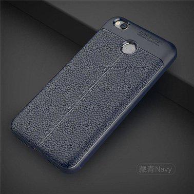 "TPU чехол ""Leather grain"" для Xiaomi Redmi 4X blue"