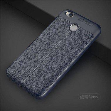 "TPU чехол ""Leather grain"" для Xiaomi Redmi 4X blue , фото 2"