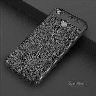 "TPU чехол ""Leather grain"" для Xiaomi Redmi 4X black"