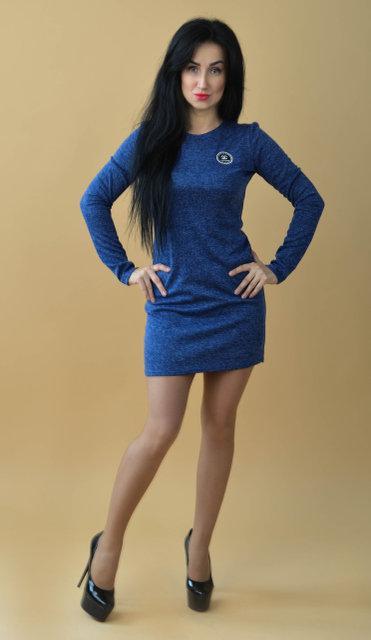 Короткое молодежное платье (размер 44-50)